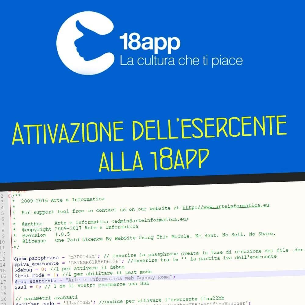 Download Script attivazione esercenti 18app