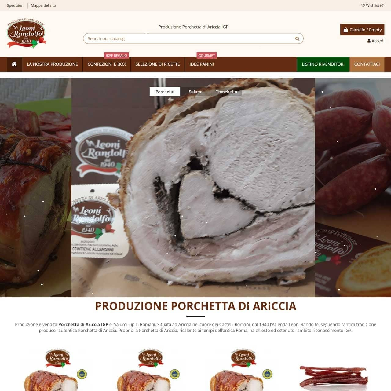 Creation of Leoni Food e-commerce